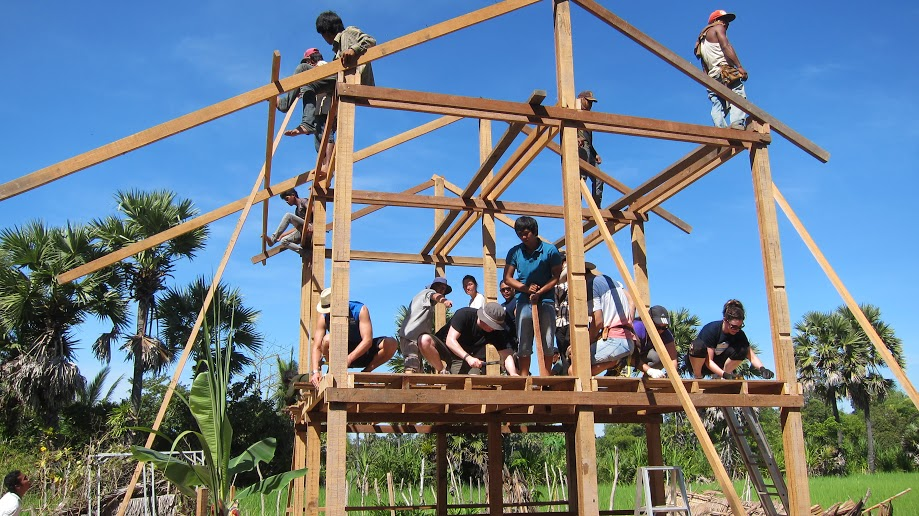 Volunteers Building Cambodia