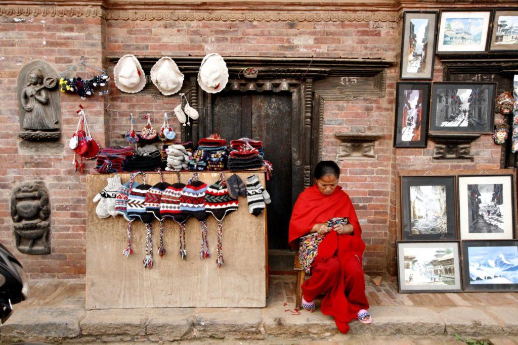 Торговая улица в Бхактапуре